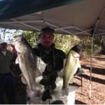Benefit Tournament Angler weighs-in his catch