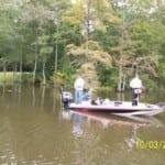 Region 8 Boat Captain Jay Perkins and Sergeant Stewart from Petaluma, CA fishing the Chickahominy River